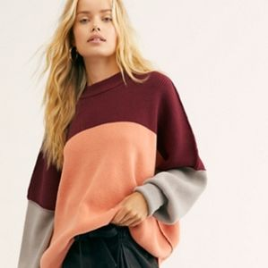 ✨HP✨ NWT Free People Peach Combo Easy St Sweater